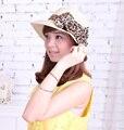 El nuevo sur de corea versión adultos arco del sombrero del sol de la mujer casquillos del verano de paja sombrero venta al por mayor y al por menor envío gratis