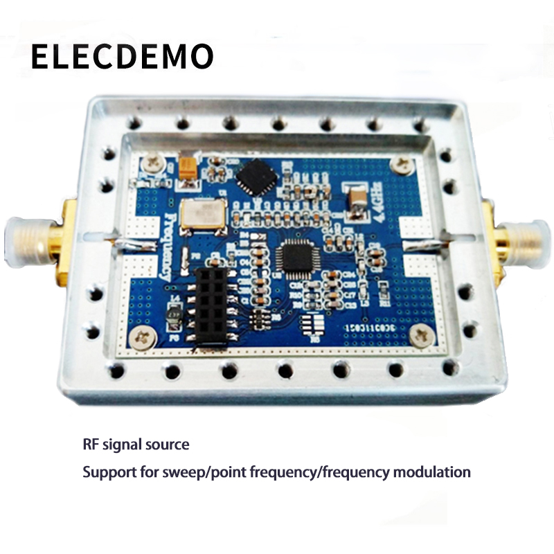 ADF4351 RF Signal Source 35M 4.4G with cavity phase locked loop PLL supports sweep frequency hopping-in Demo Board Accessories from Computer & Office