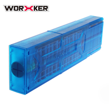 WORKER 40-dart Double Row With Single Out For Worker Dominator Blaster - Transparent Blue/Transparent