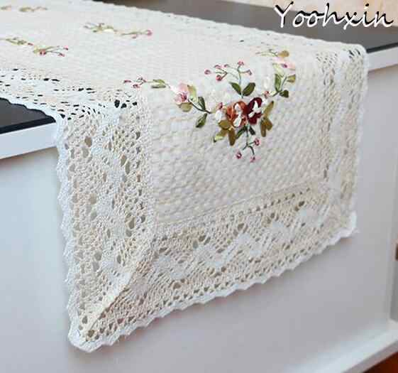 2sizes HOT lace cotton table place mat pad Cloth embroidery pan placemat cup mug dining tea coffee coaster wedding doily kitchen