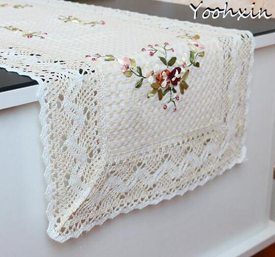 2 kích thước HOT ren bông ra mat bảng pad Vải thêu pan placemat cốc cốc cốc ăn trà cà phê coaster đám cưới vải lau tay nhà bếp