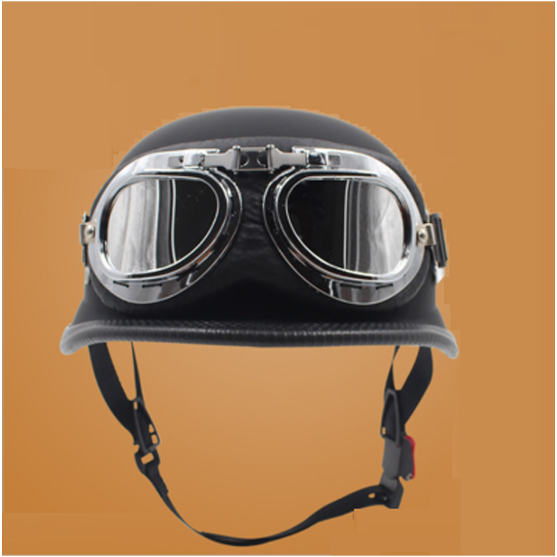 Fashion German helmet Open face motorcycle helmet with goggle casque moto capacete casco motocicleta casque Electrombile kask