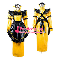 Free Shipping Sissy maid pvc dress lockable Uniform cosplay costume Tailor-made[G2199]