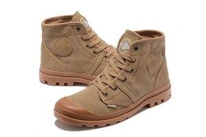 Image 5 - Bottines en PALLADIUM Pampa Hi Work pour hommes, baskets, chaussures de marche, qualité supérieure, décontracté toile, à lacets, tailles 39 à 45, décontracté