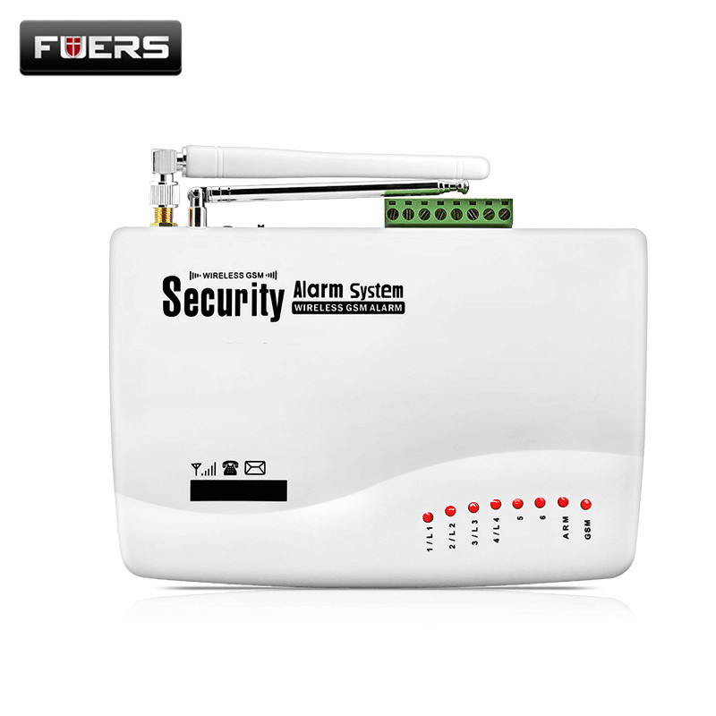Fuers GSM 10A Home Security Burglar Alarm System Auto Dialing SMS Call Remote Control Wireless Wired GSM Alarm System Panel wireless gsm pstn auto dial sms phone burglar home security alarm system yh 2008a