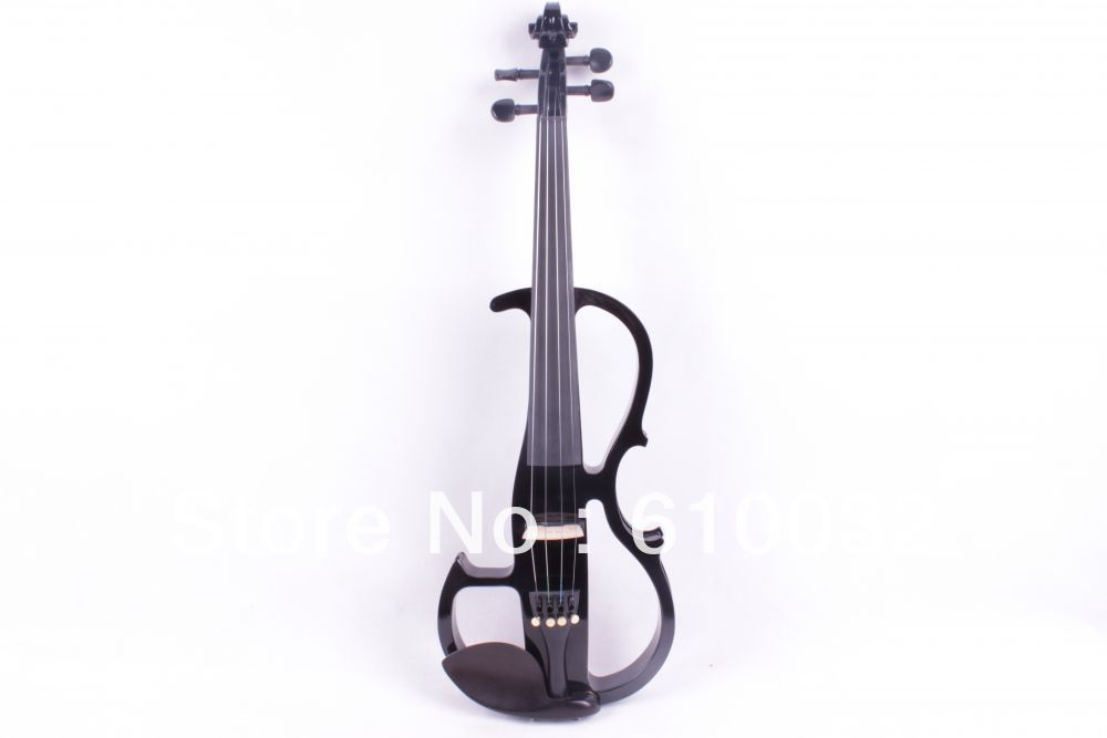 New black  4 string 16'' Electric Viola Silent Solid Wood Body Powerful Sound Case Bow new 4 string 4 4 electric acoustic violin patent silent fine sound 1