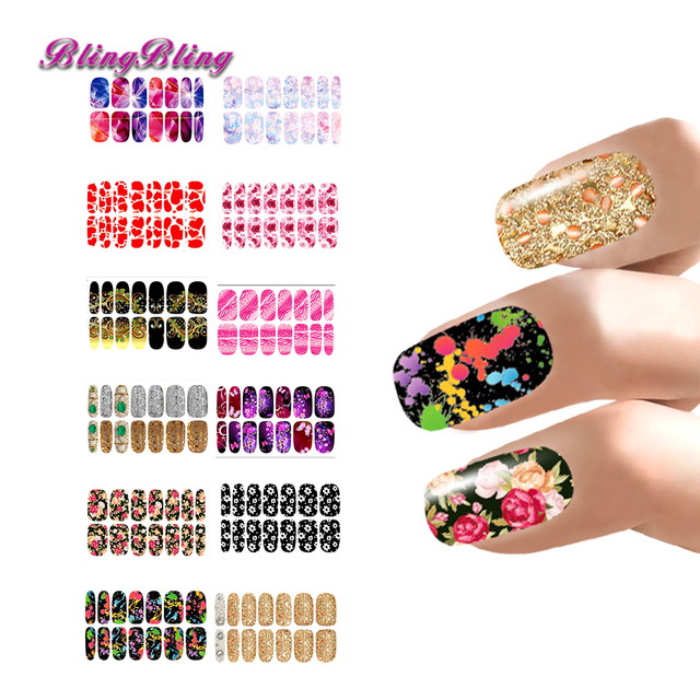 12 sheets Nail Stickers Water Decals Accessories Nails Art Lot ...