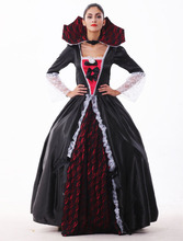Top Quality 2017 Women Zombies Evil Queen Cosplay Costume Sexy Halloween Vampire Witch Dress Carnival Fancy Ball Gown Party Wear