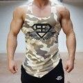 Top Homens Tanque de Fitness Camuflagem Do Exército Do Camo Mens Bodybuilding Regatas Singlet Stringers Roupas de Marca