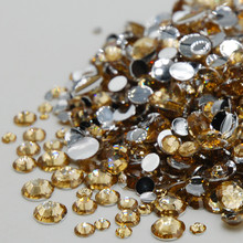 Apparel decoration Mixed Sizes Light Brown 3D Nail Art Decoration Flat back  Strass Acrylic Rhinestones For 8d42af4de7e6
