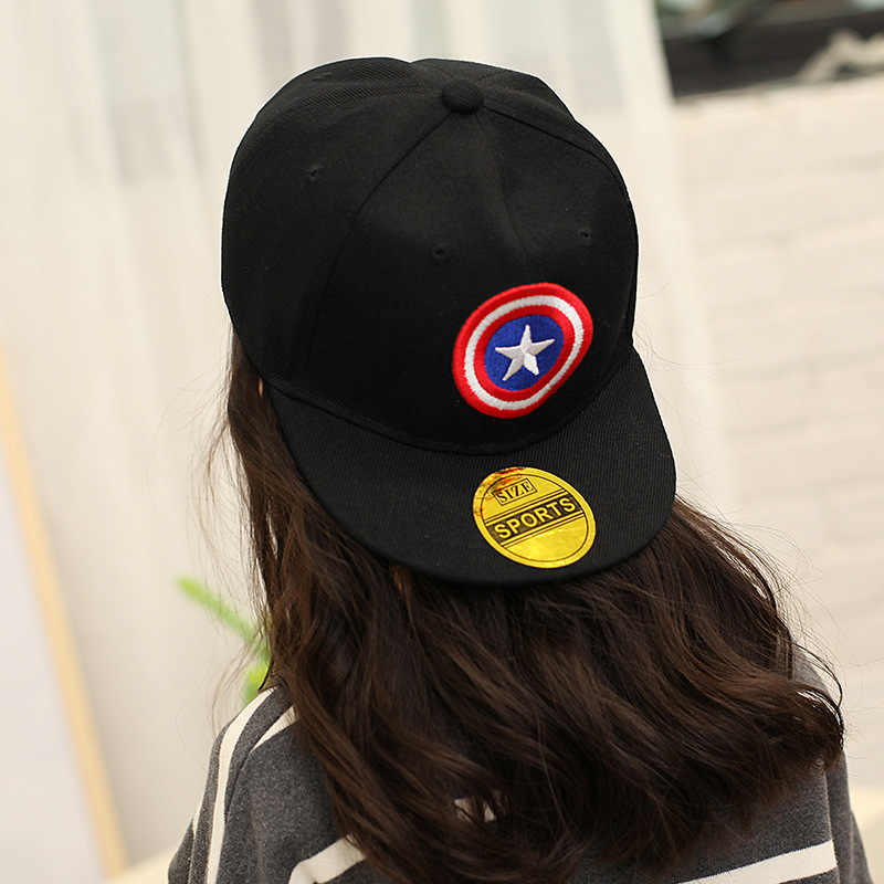 d027d9fa ... 2-12Y Summer Childrens Baseball Cap Boys&Girls Cartoon Captain America  Snapback Adjustable Kids Hip Hop