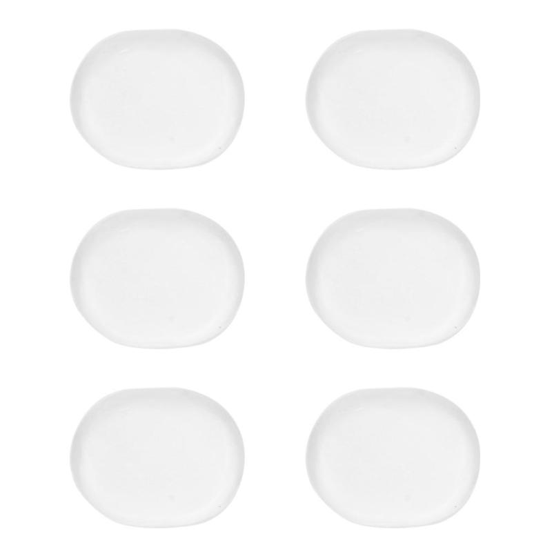 Black Shock Absorber Gel Snare Drum Snare Drum Pad Drum Muted Silent Drum Transparent Accessories for Percussion Instruments 6 pcs//set
