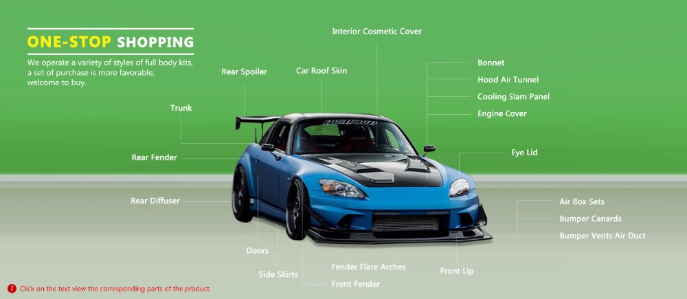 US $220 0 |For Honda S2000 FRP Exterior Spoon Style Rear Fender Arch Set  (+30mm) Fiber Glass Mudguard Wheel Flare Accessories Car Styling-in Body  Kits