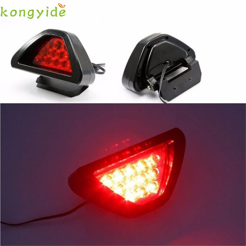 High Quality   Universal F1 Style 12 LED Red Rear Tail Third Brake Stop Safety Lamp Light Car