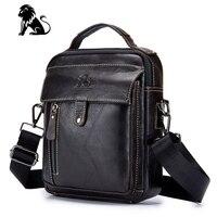 New Arrival Fashion Business Genuine Cow Leather Men Messenger Bags Promotional Crossbody Shoulder Bag Casual Man Bag