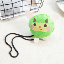Green Cat Foldable Eco Reusable Shopping Bags Tote Pouch Recycle Storage Handbags 38cm x58cm