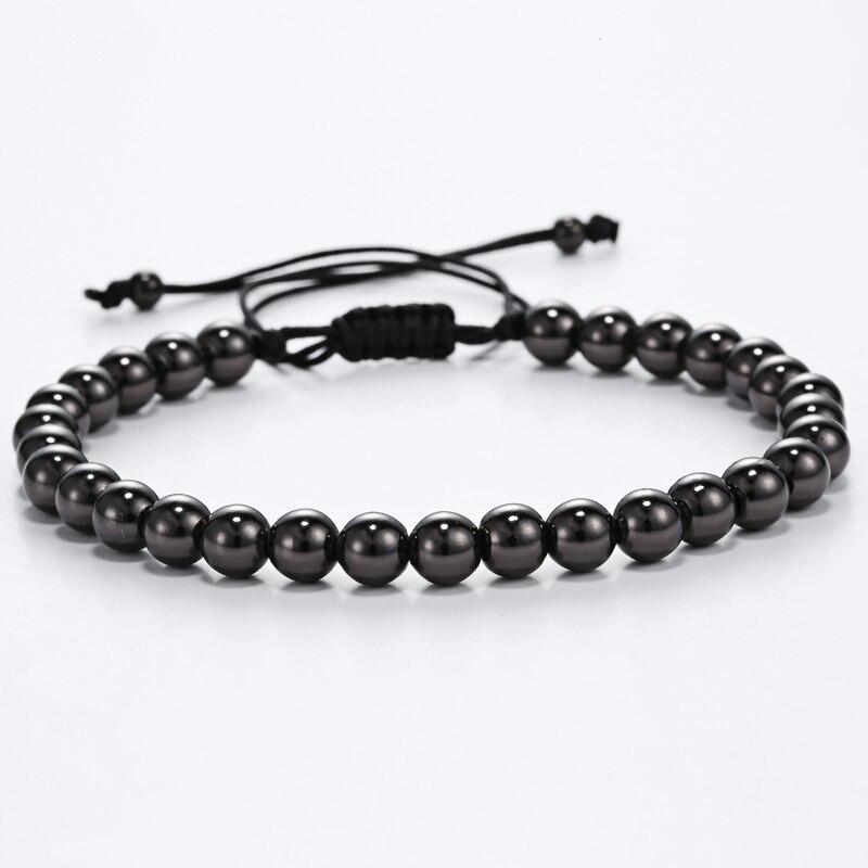 gold beads bracelets Men girl Bracelets Titanium Steel Round Beads Men Woman gold Bracelet pulsera men jewelry beads bracelet