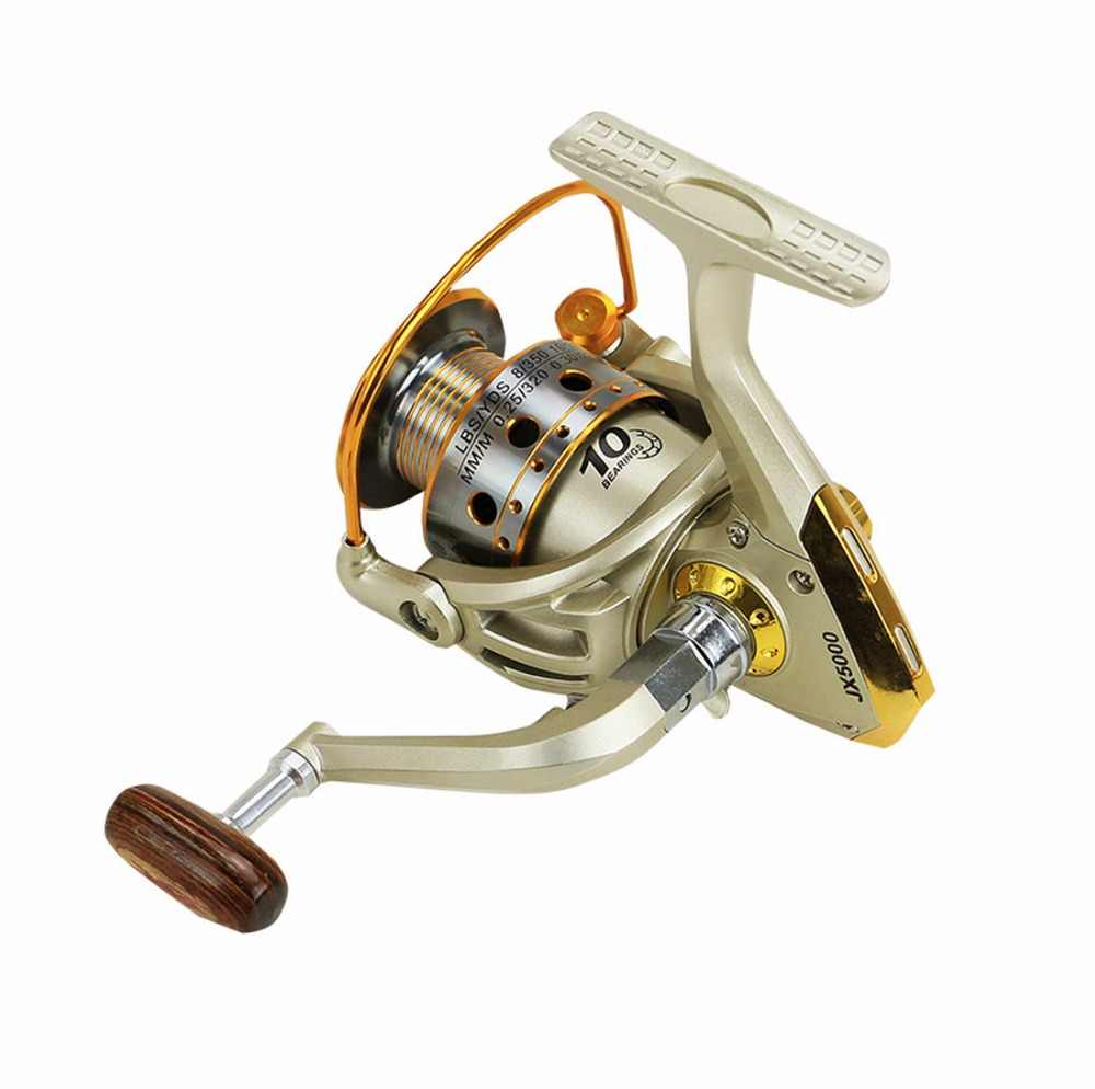 NEW HOT SALES JX7000 FOR BIG FISH Ocean inshore Fresh saltwater ICE FLY CARP spinning reel 10 Ball Bearing wood strengthen KNOB