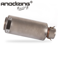 51mm Universal Motorcycle Exhaust Muffler Modified Exhaust Stainless Steel