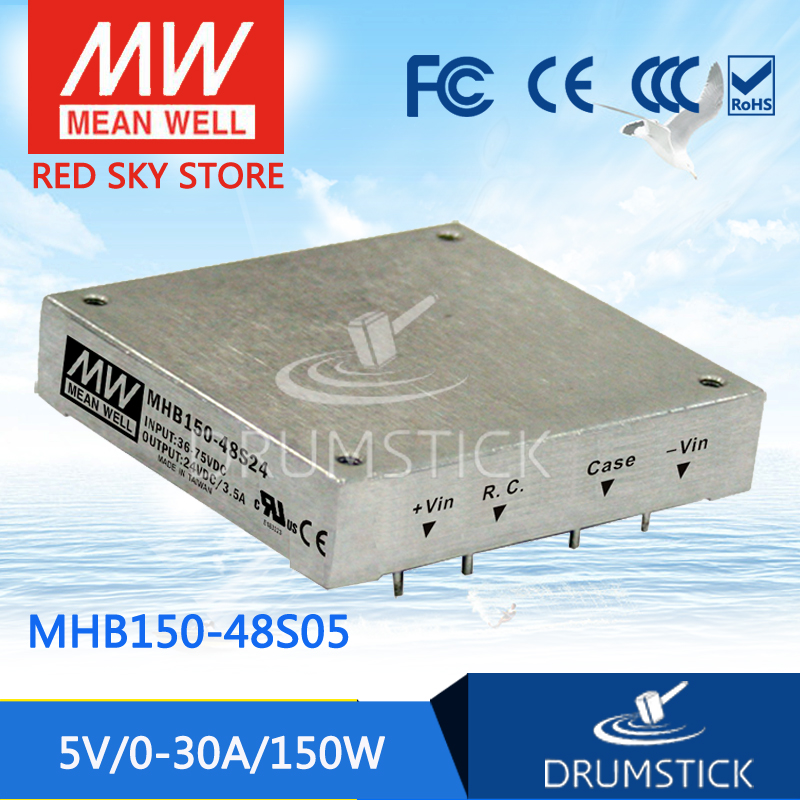 цена на MEAN WELL MHB150-48S05 5V 30A meanwell MHB150 5V 150W DC-DC Half-Brick Regulated Single Output Converter