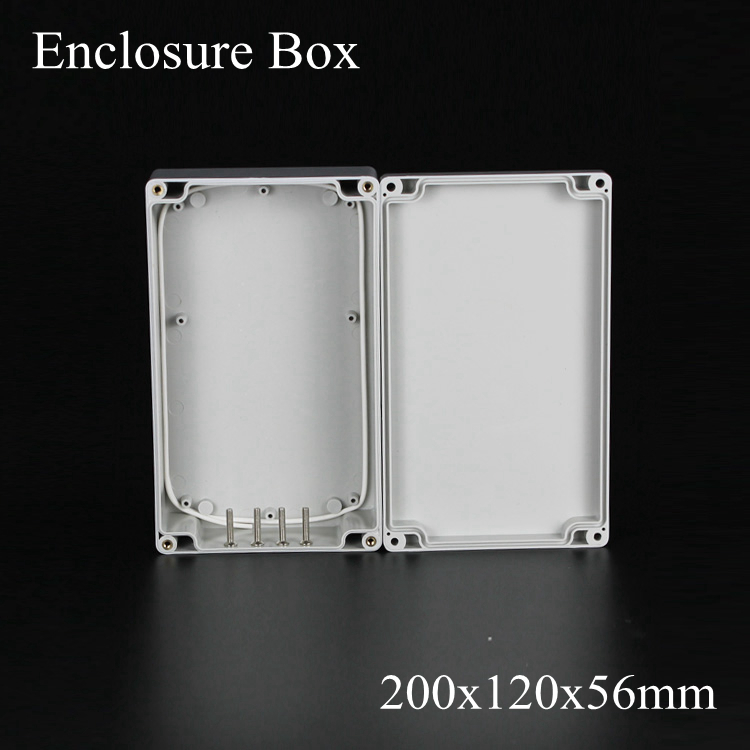 (1 piece/lot) 200*120*56mm Grey ABS Plastic IP65 Waterproof Enclosure PVC Junction Box Electronic Project Instrument Case waterproof abs plastic electronic box white case 6 size
