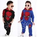 Человек паук дети комплект одежды человек - паук спортивные костюмы мальчиков толстовки + брюки дети футболка весна осень свободного покроя одежда костюм
