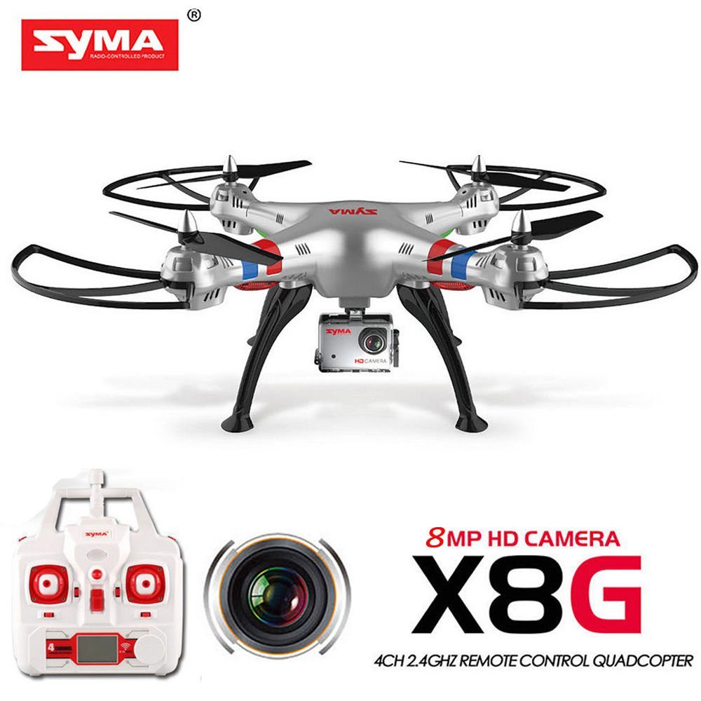 все цены на Syma X8G 2.4G 4ch 6 Axis Venture with 8MP 1080P Wide Angle Camera RC Quadcopter RTF RC Helicopter
