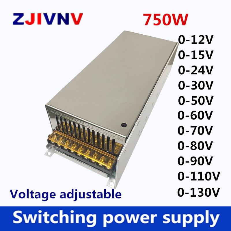 750W switching power supply adjustable output 0 12v 15v 27v 24v 36v 48v 50v 60v 72v