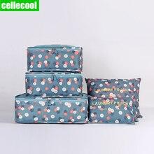 6PCS/Set High Quality Oxford Cloth Travel Mesh Bag In Bag Luggage Organizer Packing Cube Organiser Clothing luggage travel bag