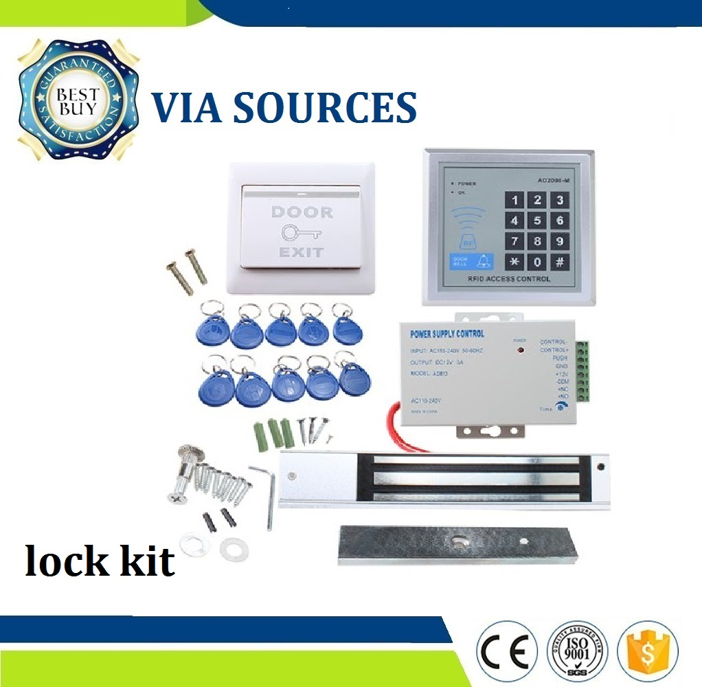 Direct Factory Electric Magnetic Lock Access Control System Kit 280KG Metal FRID Keypad Security Door