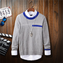 2016 New Spring Plaid Casual Men Wool Sweater male Brand Sweater Winter Men's O-Neck Cotton Sweater Jumpers Pullover Sweater Men