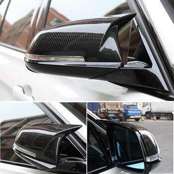 Углеродного волокна ABS боковой Зеркало заднего вида Кепки Накладка для BMW 3 4 серии GT F30 F31 f32 f33 F34 F36 2013-2018 авто аксессуары