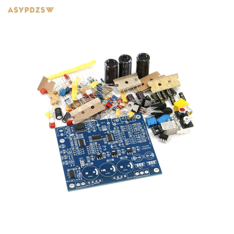 CS8416 CS4398 DAC DIY Kit with USB Coaxial 24/192K decoder Kit AC15V 32K-192K/24BIT cs8416 cs4398 dac diy kit with usb coaxial 24 192k decoder kit ac15v 32k 192k 24bit for hifi amplifier