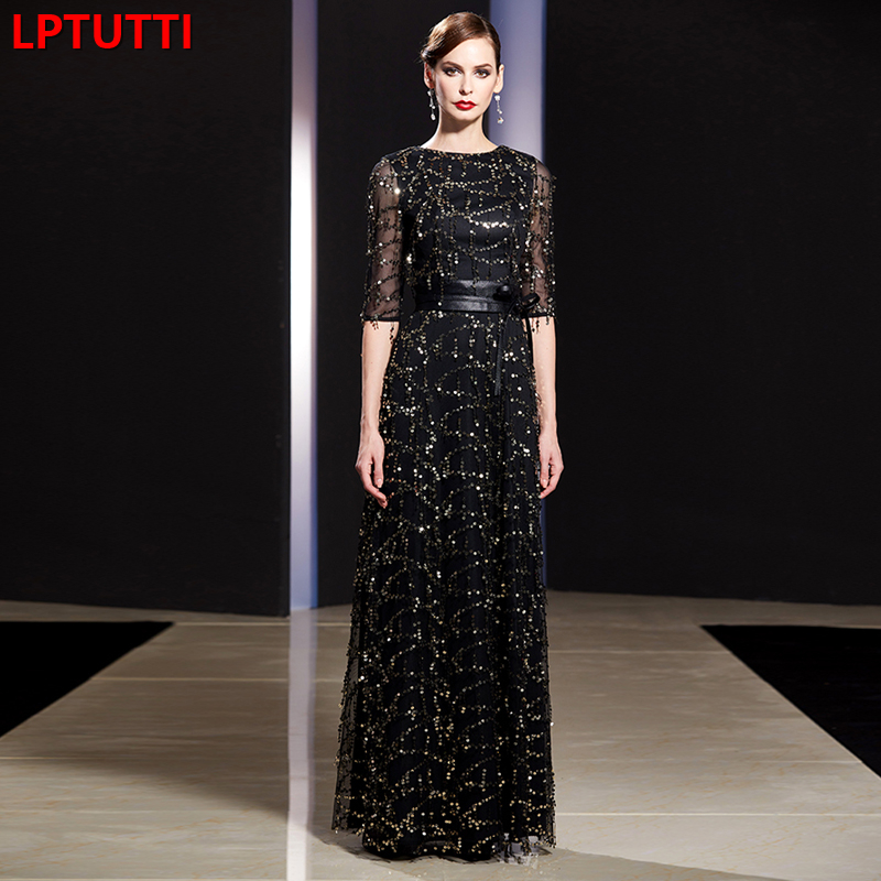 LPTUTTI Tassel Sequin Gratuating New For Women Elegant Date Ceremony Party Prom Gown Formal Gala Luxury Long   Evening     Dresses