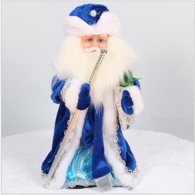 Russian Musical Santa Claus Christmas Doll Decorations Creative 12 Inch Electric Santa Claus Talking Toys Doll Toys For Children