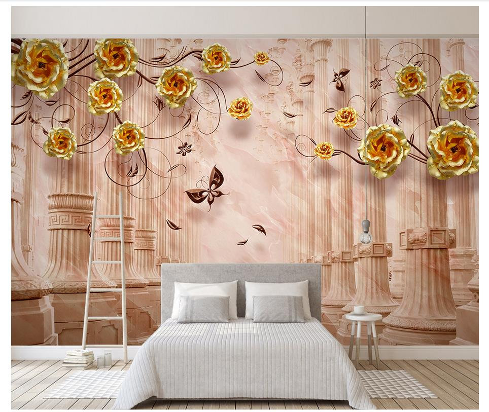3D Custom European Style Mural Photo Wallpaper Roman