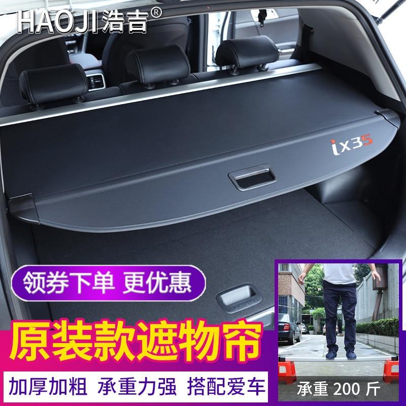 Vriendelijk Achter Pakket Plank Kofferbak Cover Materiaal Gordijn Achter Gordijn Intrekbare Spacer Achter Rekken Voor Hyundai Ix35 2017-2018 Een Verrijkt En Voedingsstof Voor De Lever En De Nieren