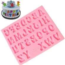 Alphabet Capital/Letter/Number silicone mold fondant cake decorating tools chocolate gumpaste Soap