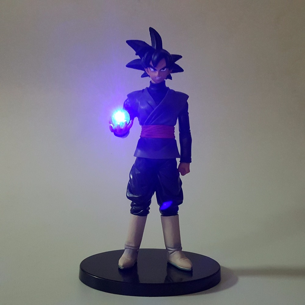 Dragon Ball Led Light Black Son Goku Zamasu Dragon Ball Action Figures Anime Super Saiyan Oświetlenie LED Lampa DBZ 150 mm