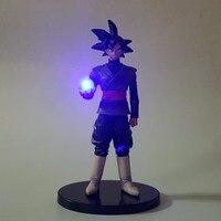 Dragon Ball Led Light Black Son Goku Zamasu Dragon Ball Action Figures Anime Super Saiyan Led Lighting Lamp DBZ 150mm