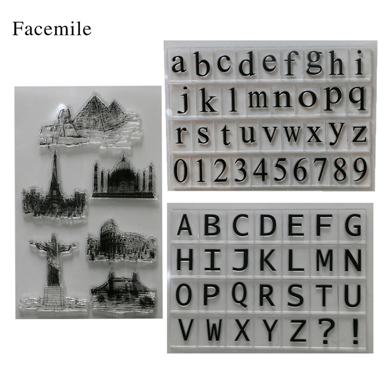 Facemile Rubber Stamp sets for card making Scrapbook DIY Photo Cards Rubber Seal Stamp Set alphabet letters landscape цифровая камера other great create lisa pavelka rubber stamp set exotique strip