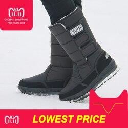 2018 Men Boots platform snow boots for men thick plush waterproof slip-resistant winter shoes Plus size 36 - 47