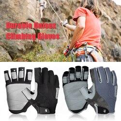 Alta qualidade luvas de escalada luvas de desporto metade do dedo luvas de escalada ao ar livre equipamento de escalada de montanha para homens