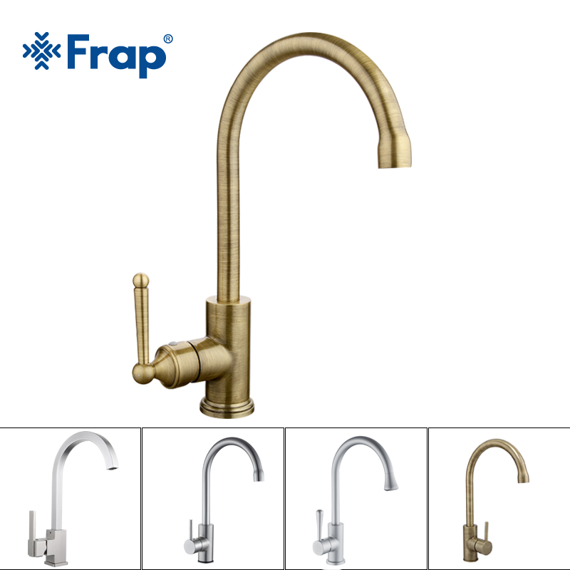 Frap NEW Hot and Cold Water Classic kitchen faucet Space Aluminum brushed process swivel Basin faucet 360 degree rotation F4052 frap new arrival silica gel nose any direction kitchen faucet cold and hot water mixer torneira cozinha crane f4453