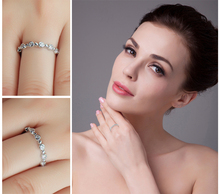 Wedding Band Eternity Ring For Women Real 925 Sterling Silver Jewelry For Women Wedding Ring Gift