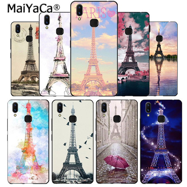 the best attitude 944a3 60bdd US $1.27 15% OFF|Maiyaca Paris Eiffel Tower Diy Colorful Printing Drawing  Plastic phone case for vivo x20 plus x21 ud nex s x9s V9 V7 Y 83 case-in ...