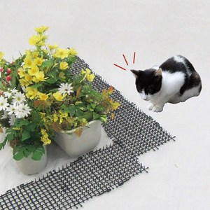 Image 2 - Garden Cat Dog Scat Mat Cats And Dogs Repellent Mat Plastic Spike Keeping Cats Dogs From Digging Flower Plant Protective Fence