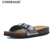 حذاء نسائي غير رسمي للشاطئ مختلط الألوان مناسب للصيف بموضة جديدة لعام 2020 مصنوع من الفلينشباشب