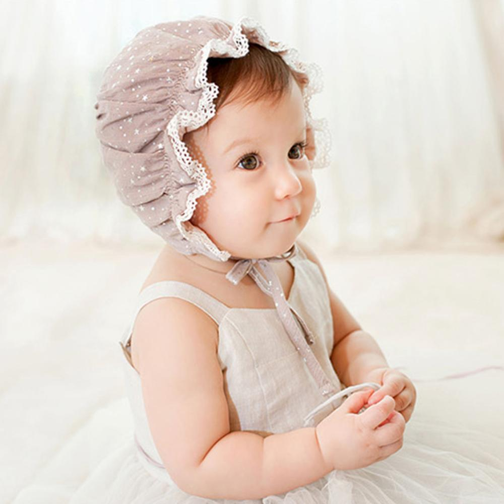 Newborn Infant Girls Boys Baby Stretchy Lace Hat Beanie Cap For 6-12 Months