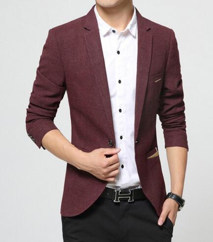 2f9718f34b59ea 2017 New Arrival Brand Spring Masculine Blazer Men Fashion Slim Fit Suit  Men Casual Solid Color Suit Blazers Male Clothing